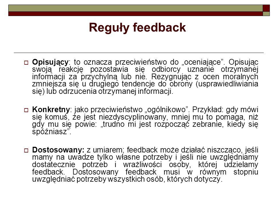 Reguły feedback