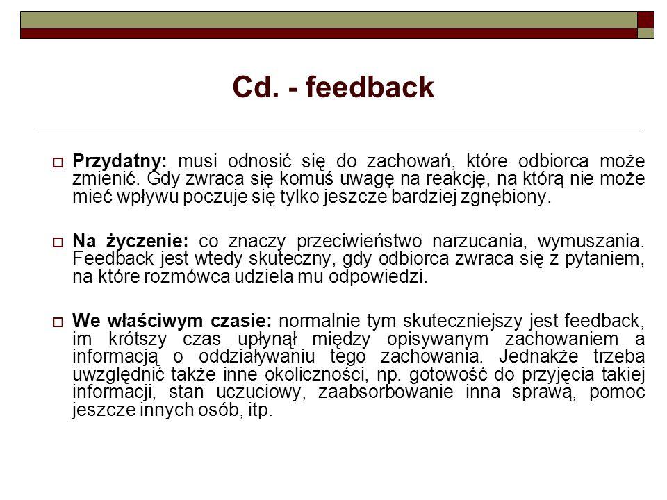 Cd. - feedback
