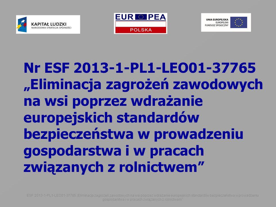 ,,,,, Nr ESF 2013-1-PL1-LEO01-37765.