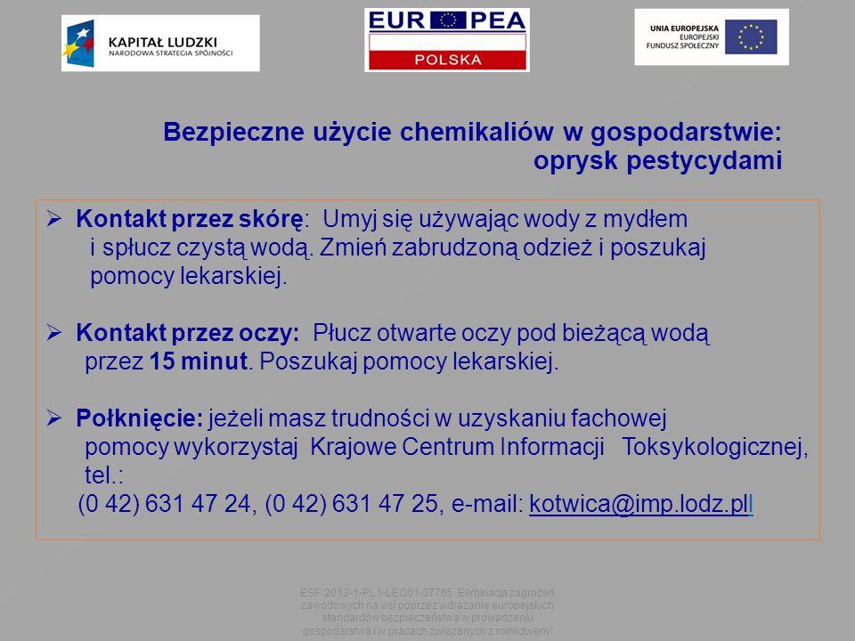 Bezpieczne użycie chemikaliów w gospodarstwie: oprysk pestycydami