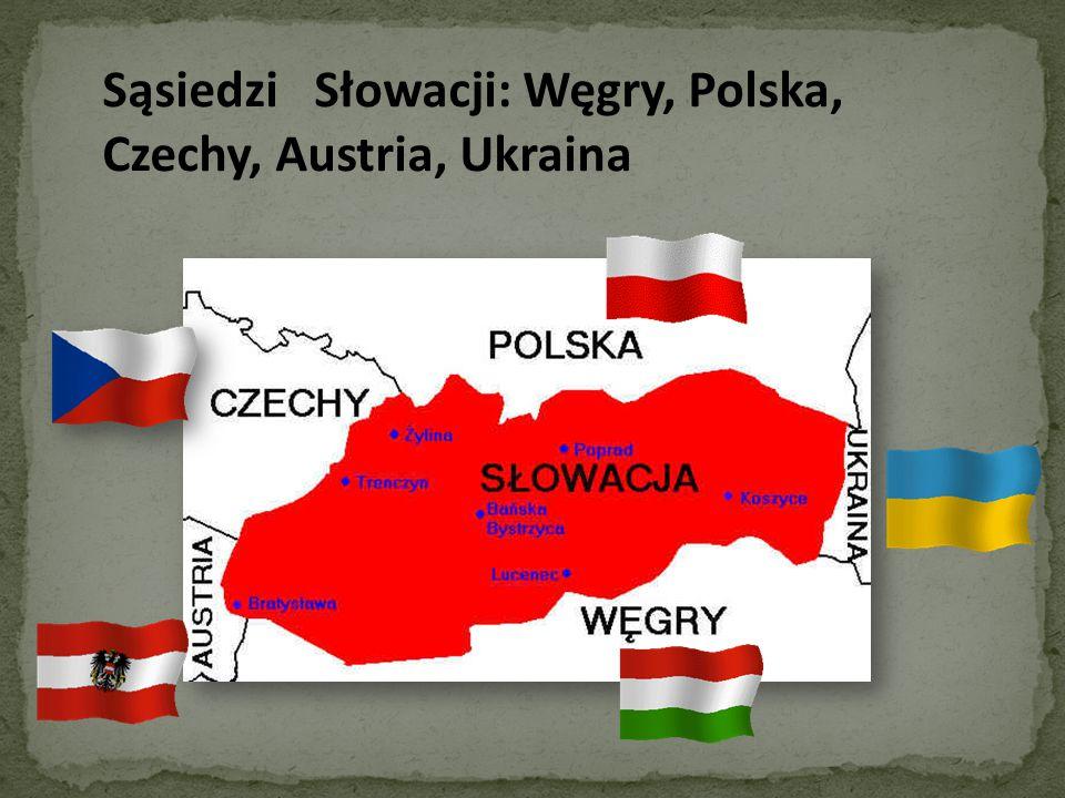 Sąsiedzi Słowacji: Węgry, Polska, Czechy, Austria, Ukraina