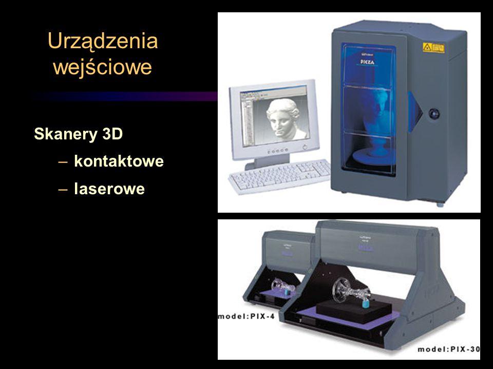 Urządzenia wejściowe Skanery 3D kontaktowe laserowe
