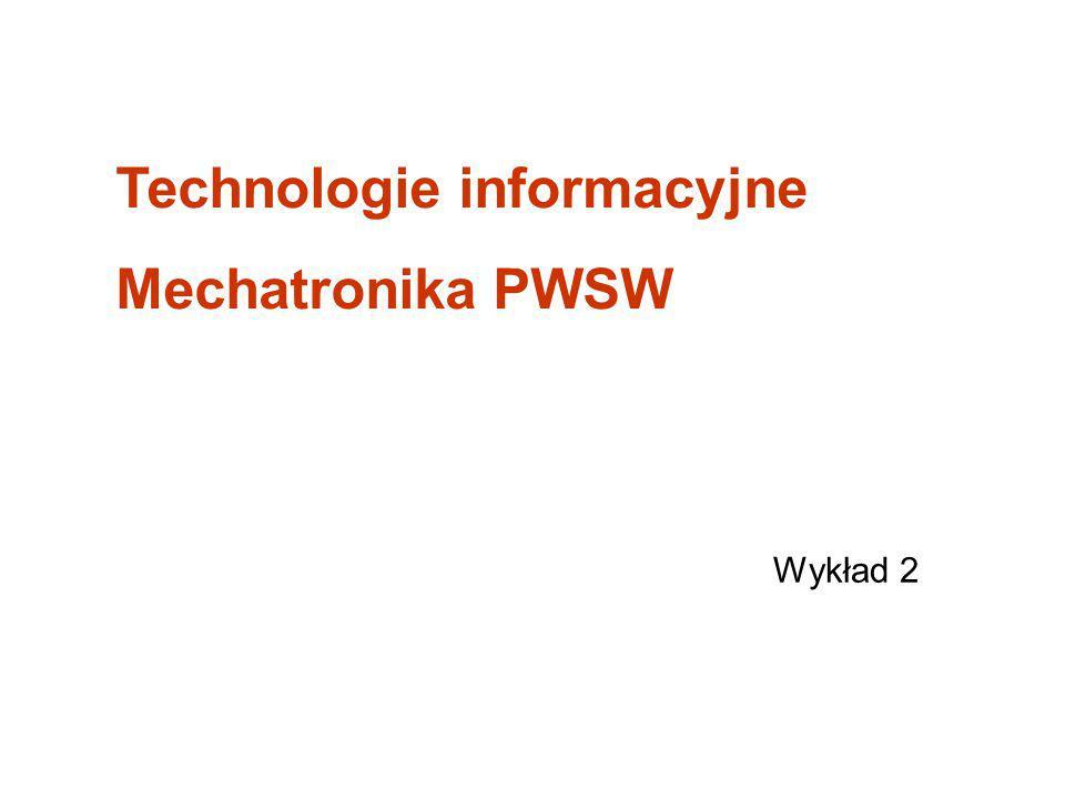 Technologie informacyjne Mechatronika PWSW