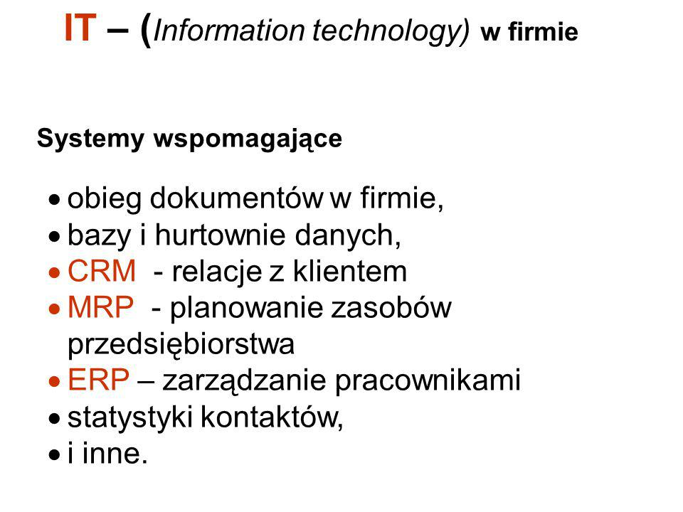 IT – (Information technology) w firmie