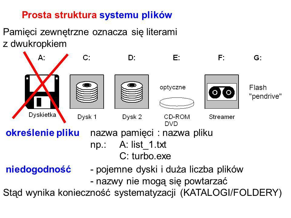 Prosta struktura systemu plików