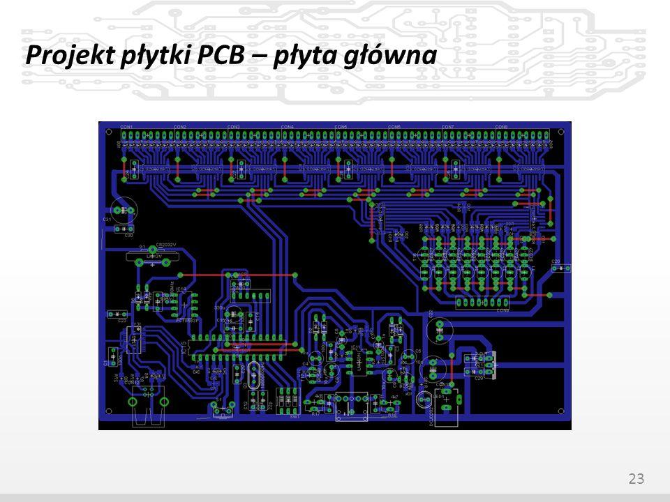 Projekt płytki PCB – płyta główna