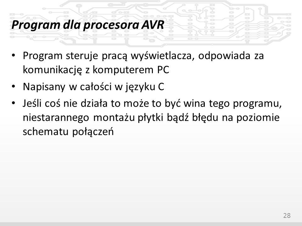 Program dla procesora AVR
