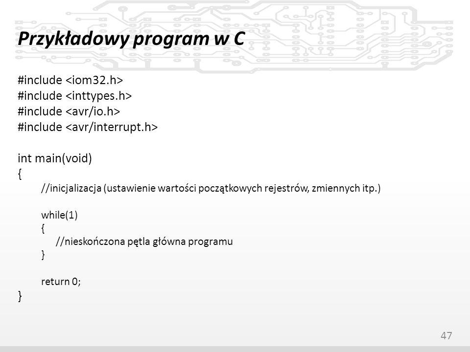 Przykładowy program w C