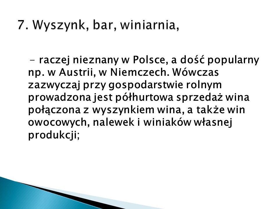 7. Wyszynk, bar, winiarnia,