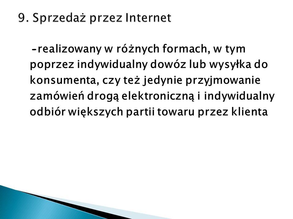 9. Sprzedaż przez Internet
