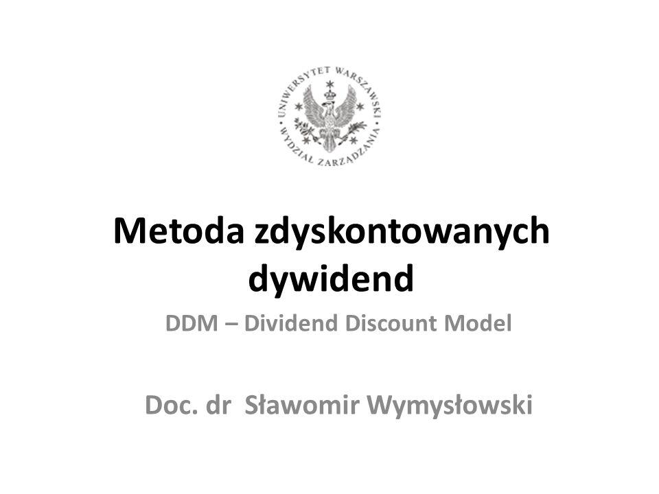 Metoda zdyskontowanych dywidend