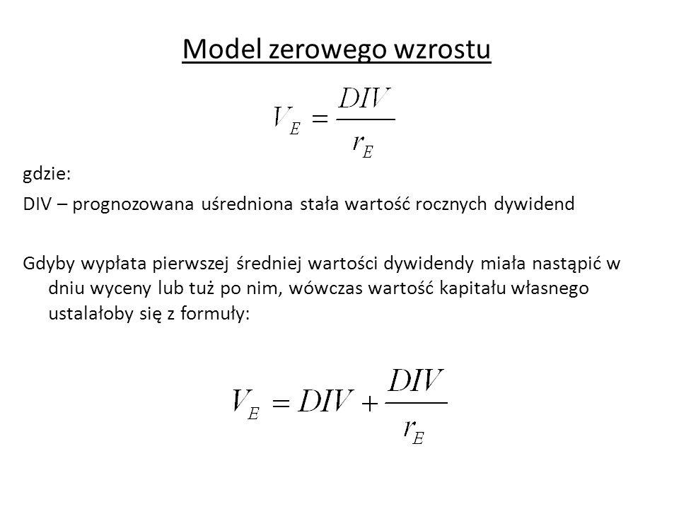 Model zerowego wzrostu