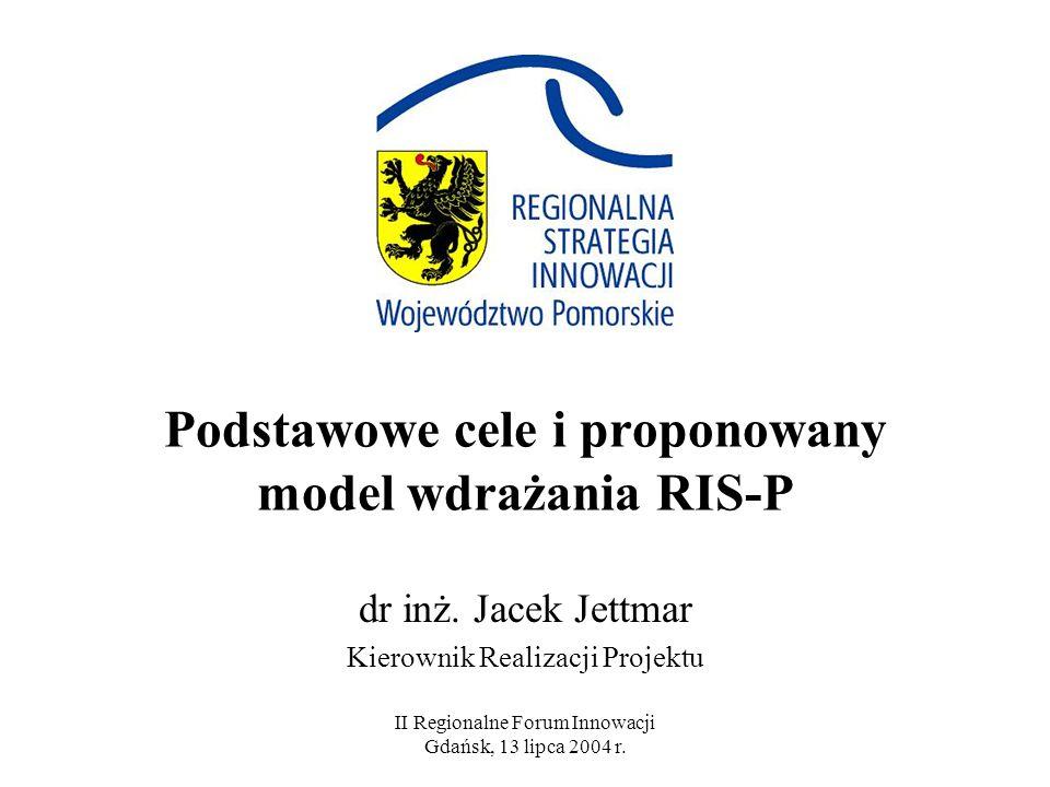 Podstawowe cele i proponowany model wdrażania RIS-P