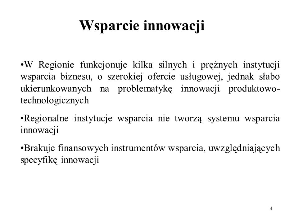 Wsparcie innowacji