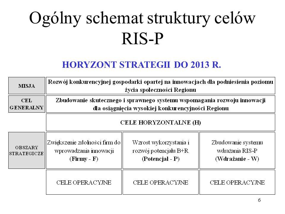 Ogólny schemat struktury celów RIS-P
