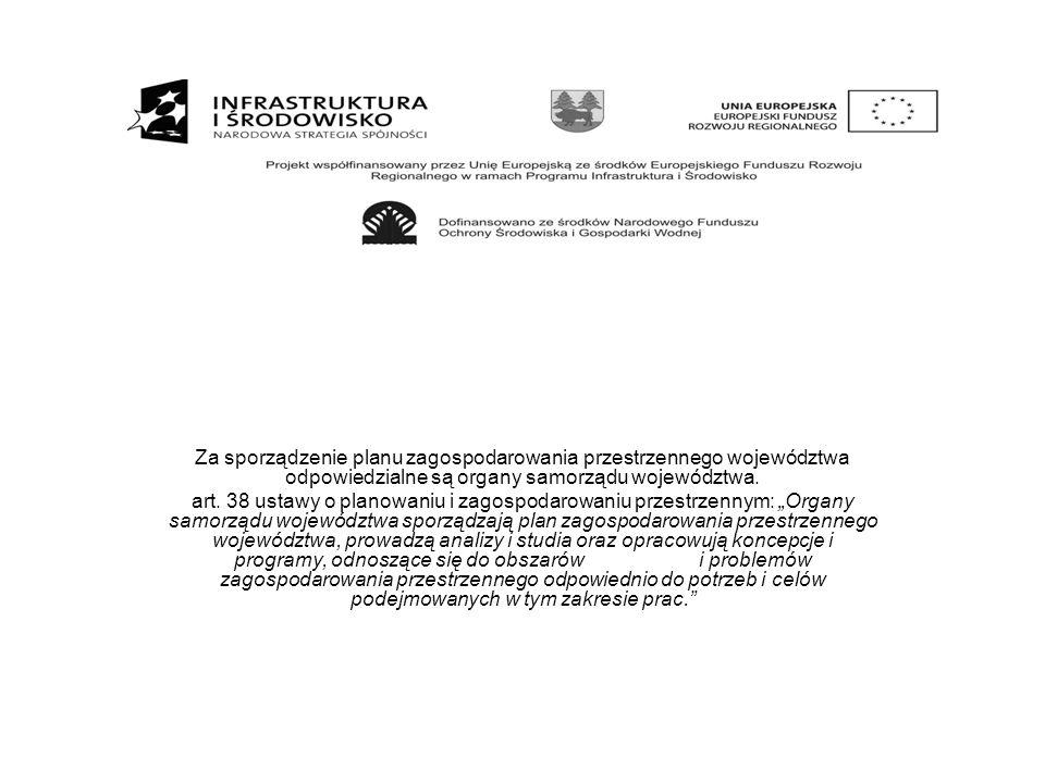 Za sporządzenie planu zagospodarowania przestrzennego województwa odpowiedzialne są organy samorządu województwa.