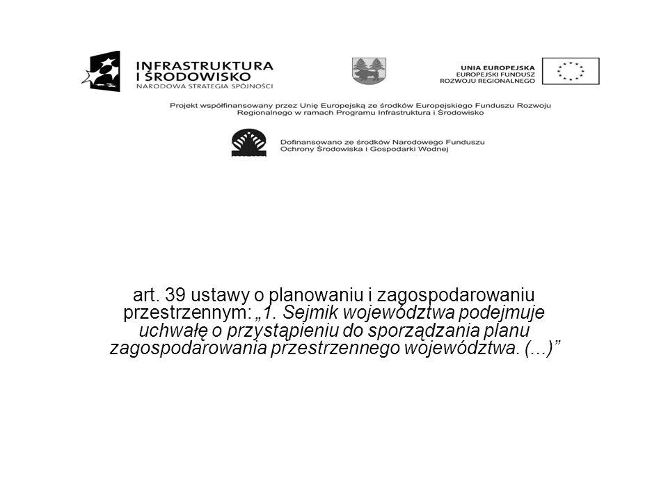 """art. 39 ustawy o planowaniu i zagospodarowaniu przestrzennym: """"1"""