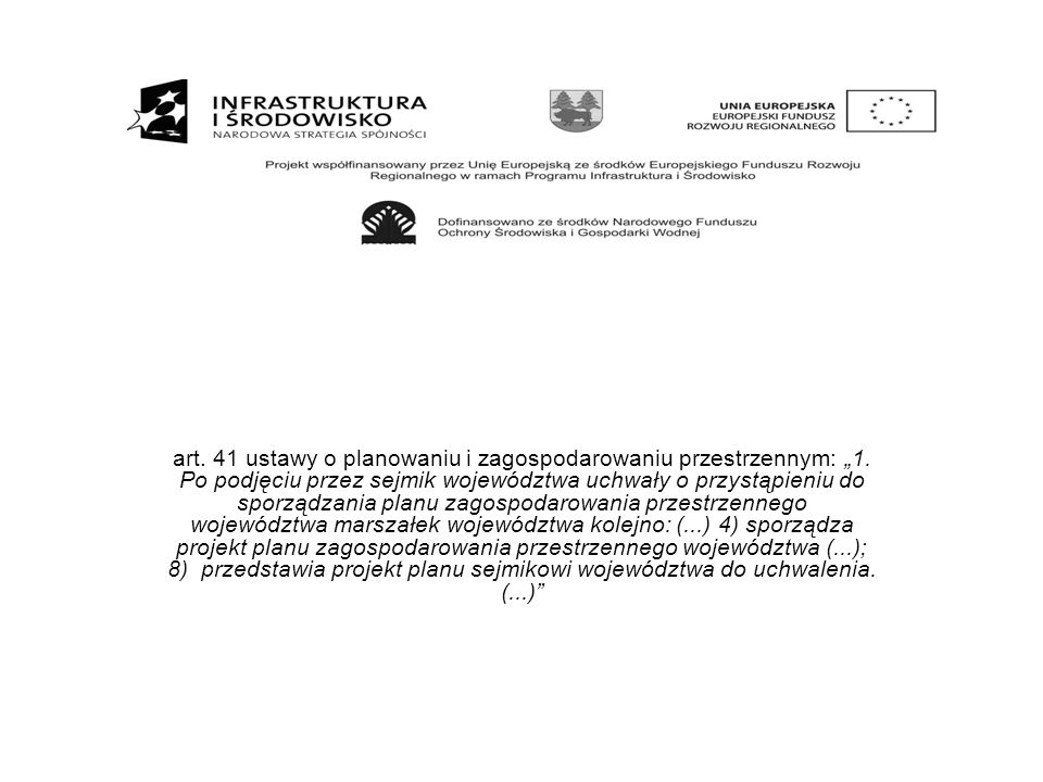 """art. 41 ustawy o planowaniu i zagospodarowaniu przestrzennym: """"1"""