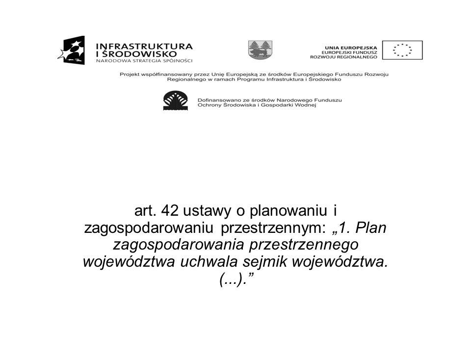 """art. 42 ustawy o planowaniu i zagospodarowaniu przestrzennym: """"1"""