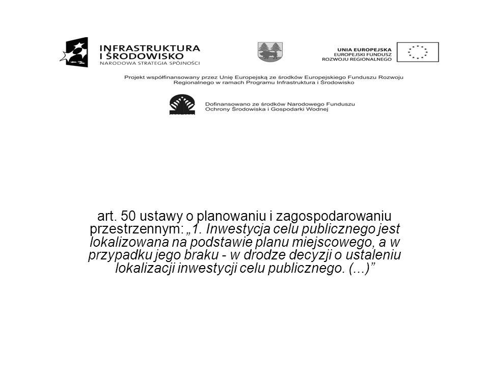 """art. 50 ustawy o planowaniu i zagospodarowaniu przestrzennym: """"1"""