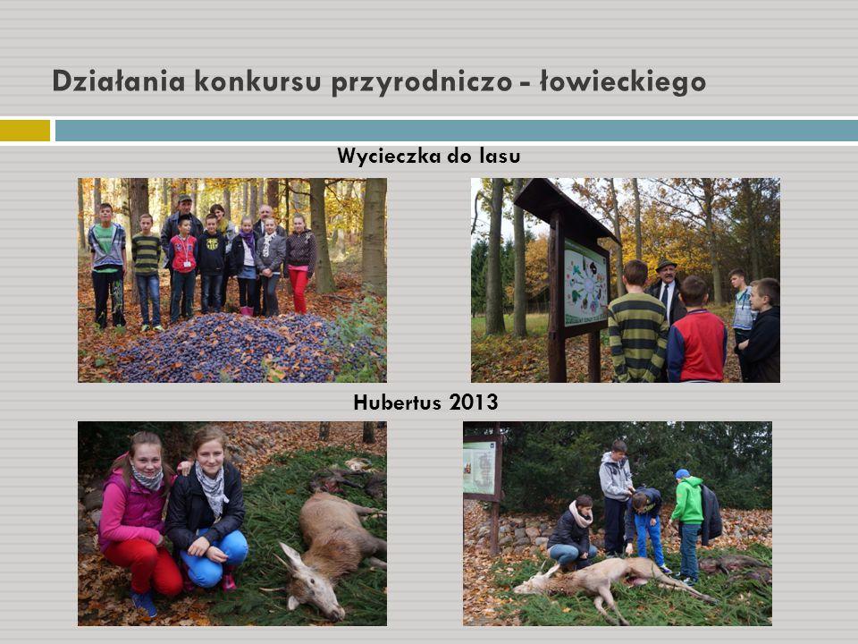 Działania konkursu przyrodniczo - łowieckiego