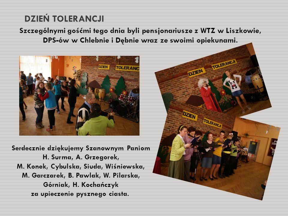 DZIEŃ TOLERANCJI Szczególnymi gośćmi tego dnia byli pensjonariusze z WTZ w Liszkowie, DPS-ów w Chlebnie i Dębnie wraz ze swoimi opiekunami.