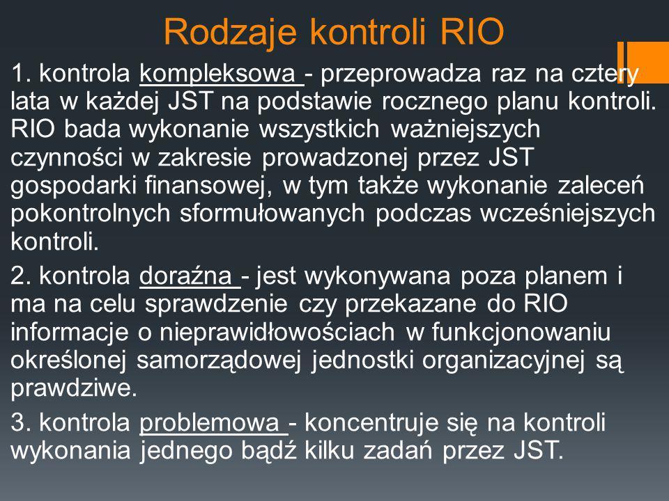 Rodzaje kontroli RIO