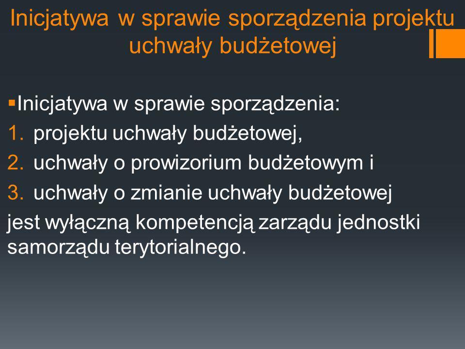Inicjatywa w sprawie sporządzenia projektu uchwały budżetowej