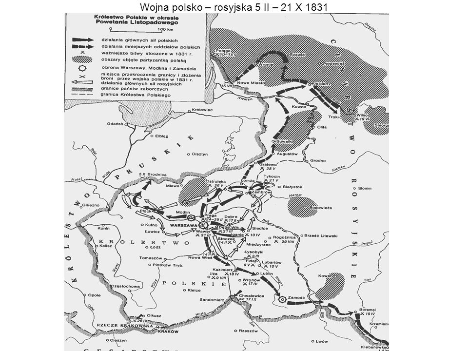 Wojna polsko – rosyjska 5 II – 21 X 1831