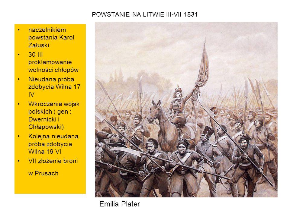 POWSTANIE NA LITWIE III-VII 1831