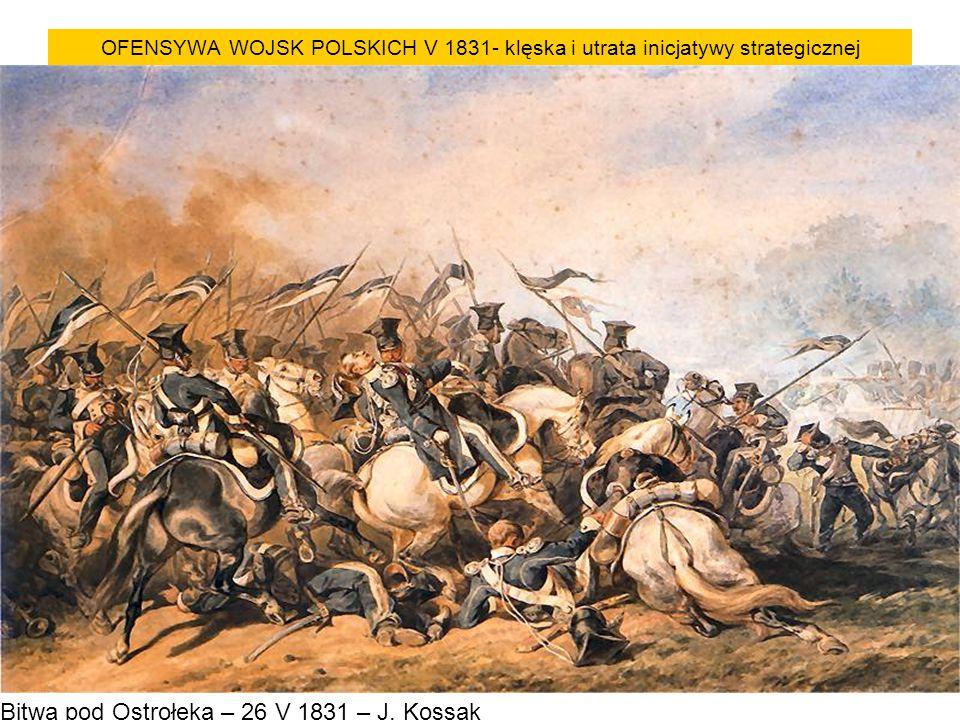 Bitwa pod Ostrołęką – 26 V 1831 – J. Kossak