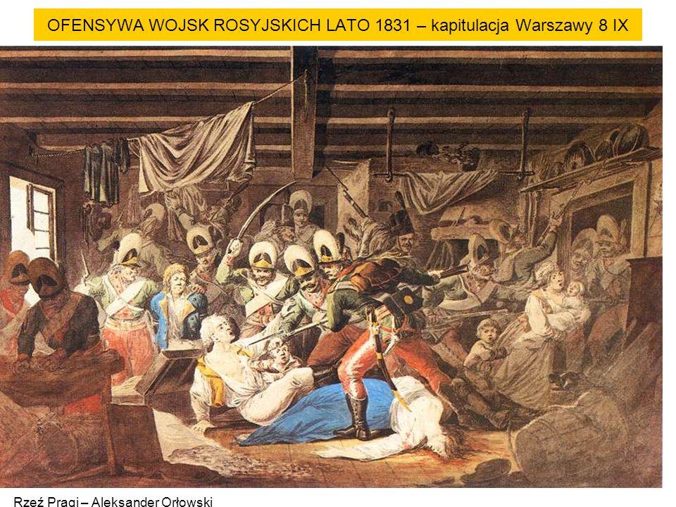 OFENSYWA WOJSK ROSYJSKICH LATO 1831 – kapitulacja Warszawy 8 IX