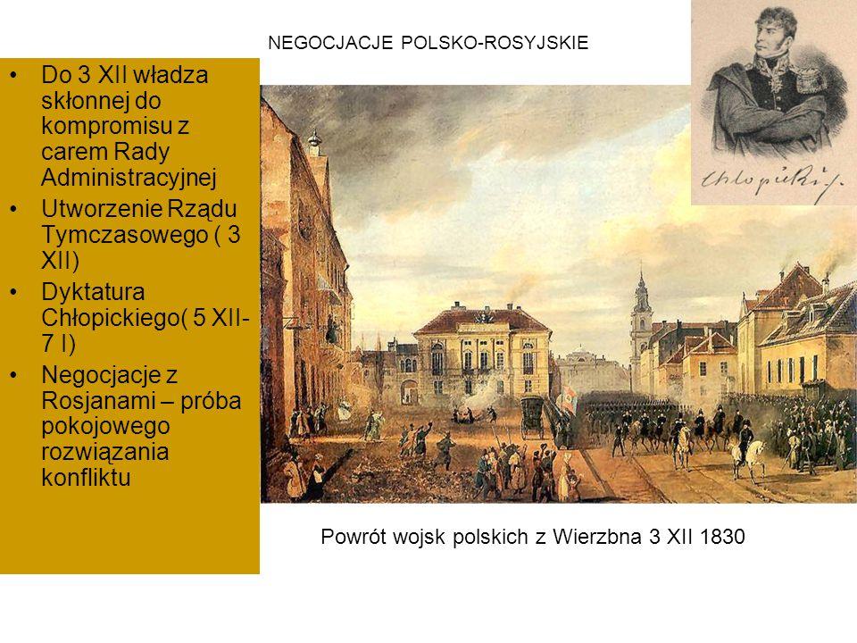 NEGOCJACJE POLSKO-ROSYJSKIE