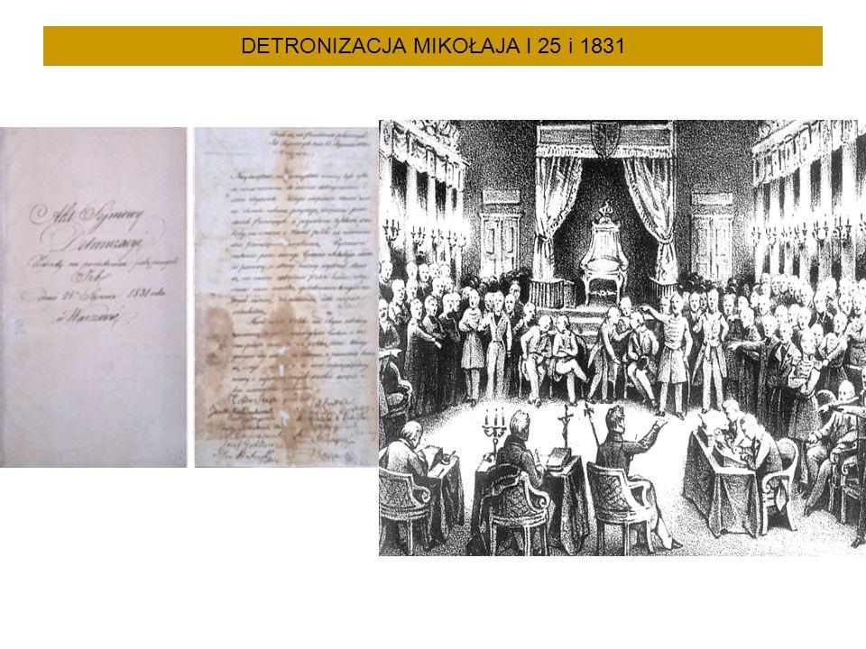 DETRONIZACJA MIKOŁAJA I 25 i 1831