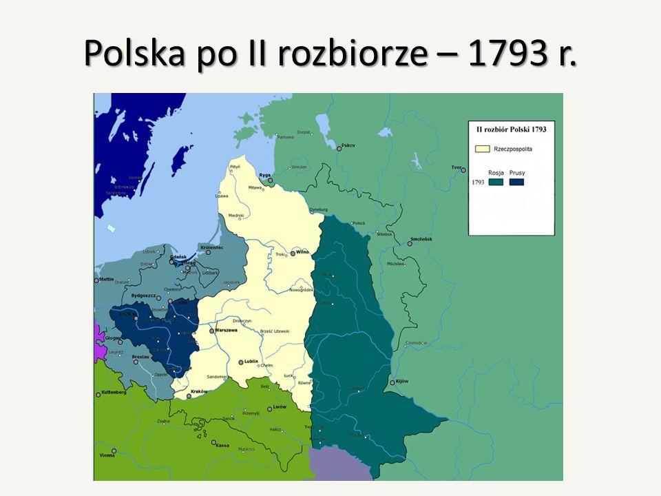 Polska po II rozbiorze – 1793 r.