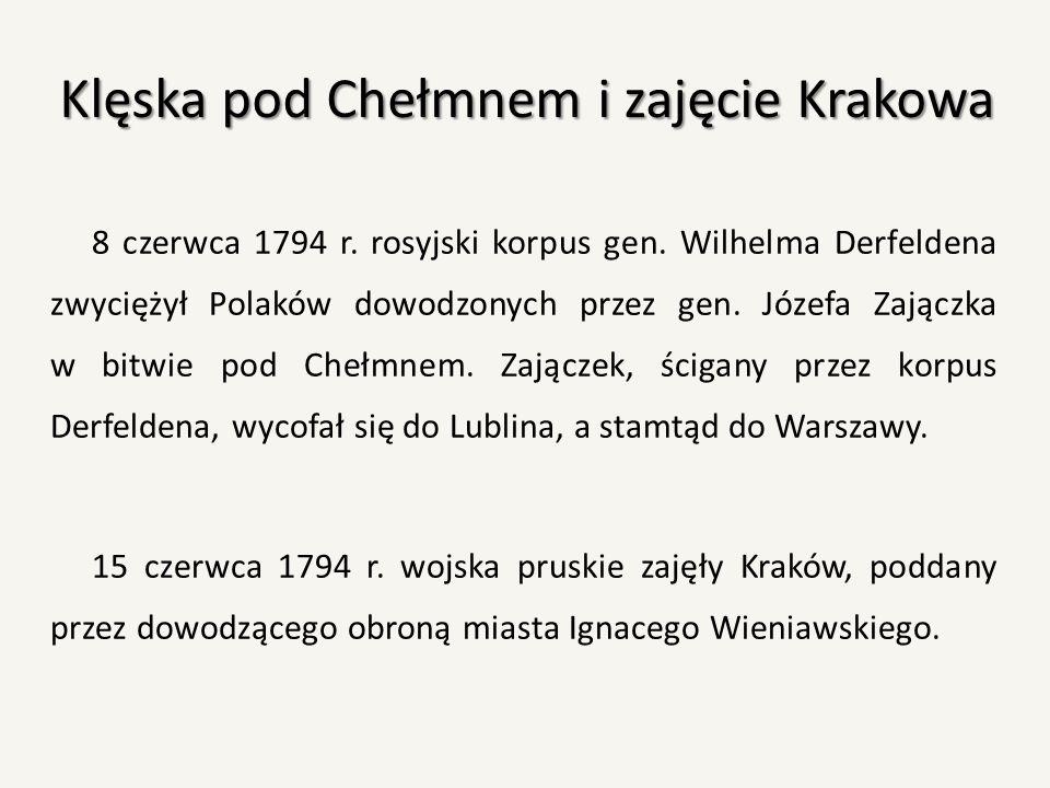 Klęska pod Chełmnem i zajęcie Krakowa