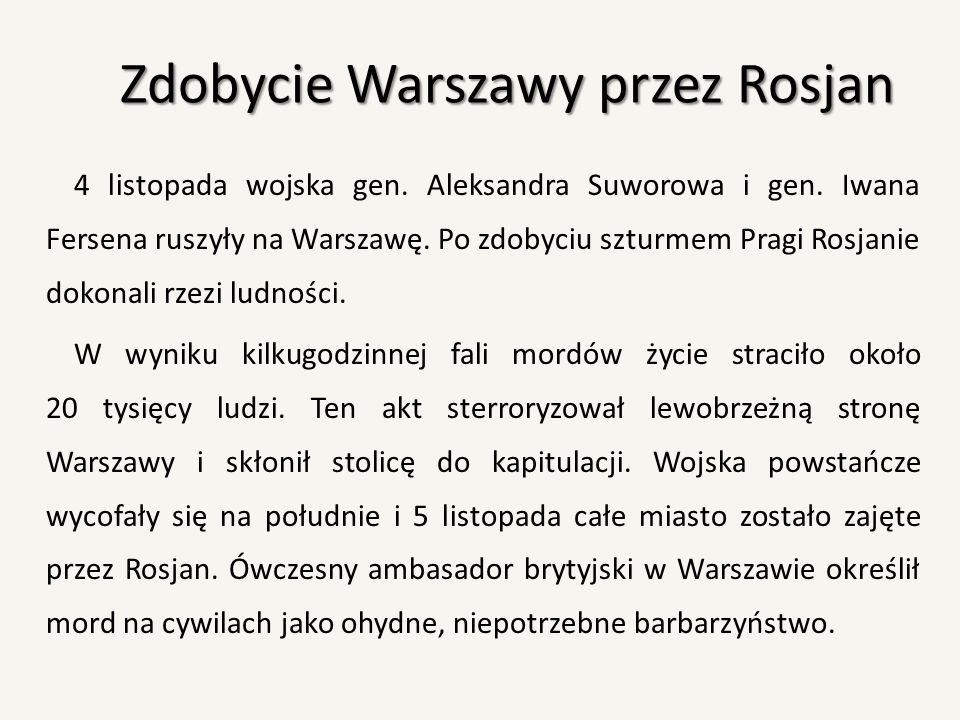 Zdobycie Warszawy przez Rosjan