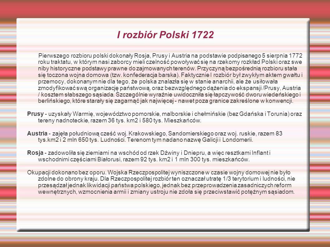 I rozbiór Polski 1722
