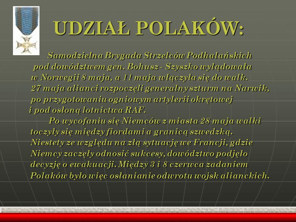 UDZIAŁ POLAKÓW: Samodzielna Brygada Strzelców Podhalańskich
