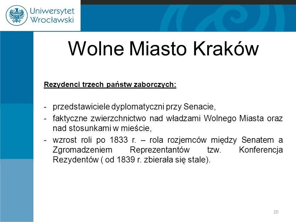 Wolne Miasto Kraków przedstawiciele dyplomatyczni przy Senacie,