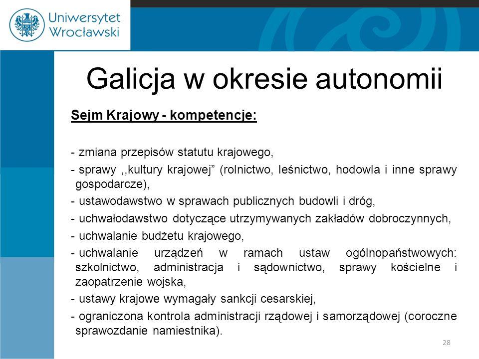 Galicja w okresie autonomii