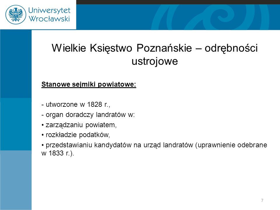 Wielkie Księstwo Poznańskie – odrębności ustrojowe