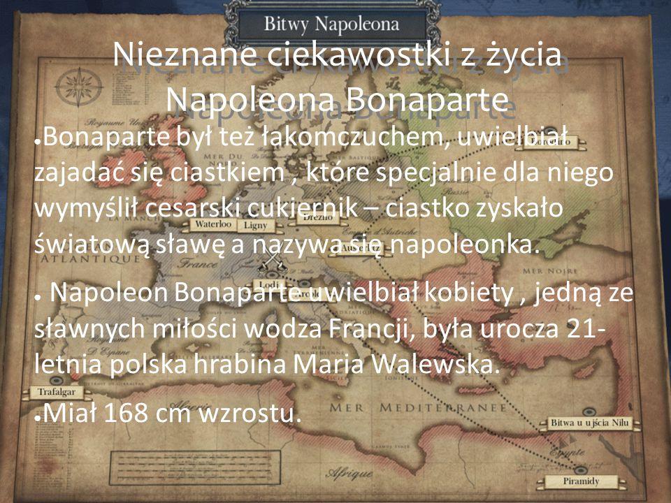 Nieznane ciekawostki z życia Napoleona Bonaparte