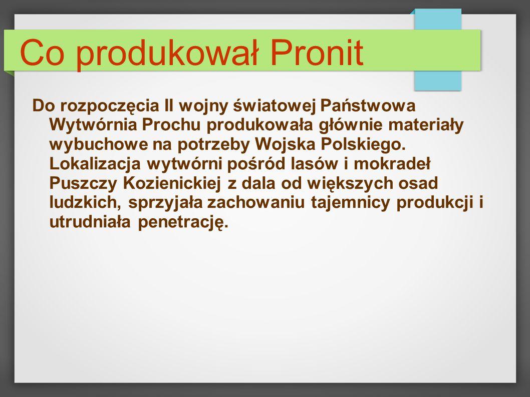 Co produkował Pronit