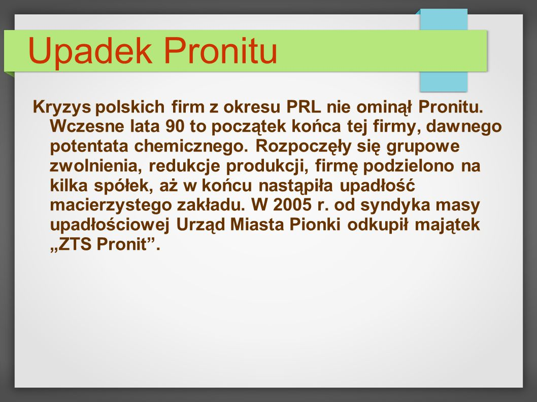 Upadek Pronitu