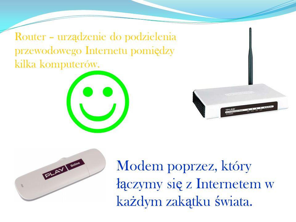 Router – urządzenie do podzielenia przewodowego Internetu pomiędzy kilka komputerów.