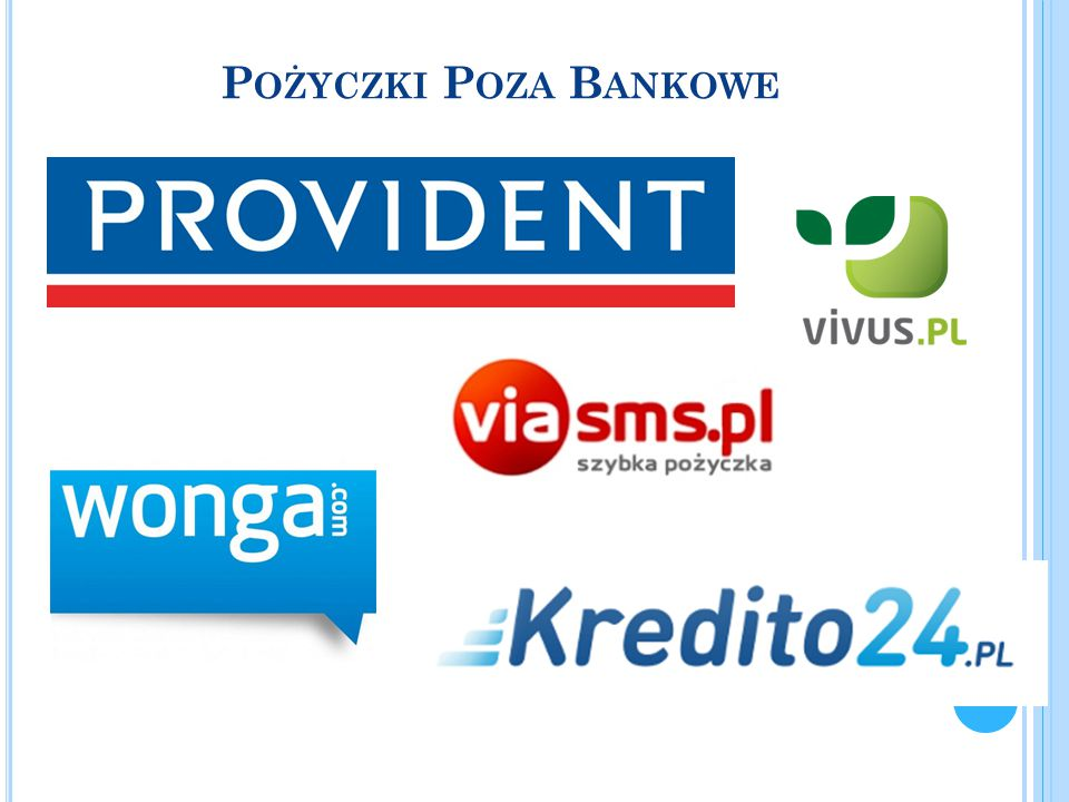 Pożyczki Poza Bankowe