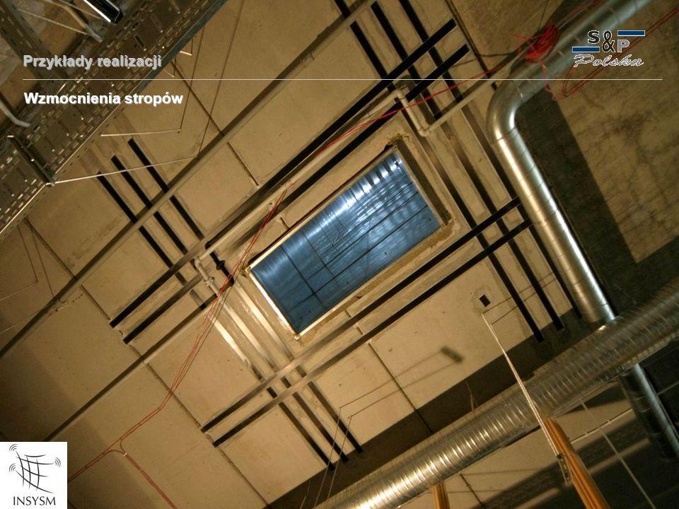 Przykłady realizacji Wzmocnienia stropów