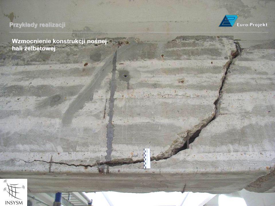 Wzmocnienie konstrukcji nośnej hali żelbetowej