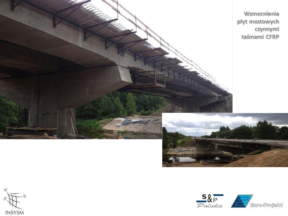 Wzmocnienia płyt mostowych czynnymi taśmami CFRP